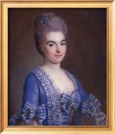Portrait of Lady in Blue, 18th century by Francois Hubert Drouais