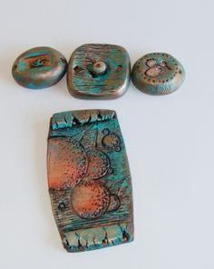 Мир полимерной глины - УРОК для любителей имитаций. Металл с патиной.