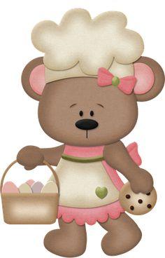 Album file - Clipart - Animals, Aquatic, Reptile, Insects, etc. Paper Purse, Bear Girl, Bear Theme, Girl Cooking, Cute Clipart, Silhouette Cameo Projects, Cute Bears, Cute Cartoon, Cartoon Owls