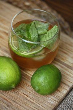 Minty Moscow Mules #herbs #cocktails