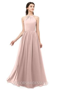 736e57e0d3d Affordable Bridesmaid Dresses Sleeveless Halter Criss-cross Straps Sexy A- line Sash can be