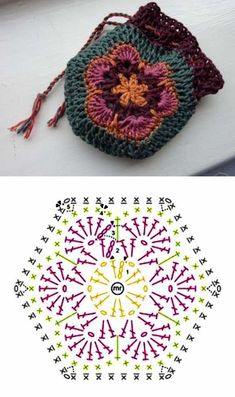 Crochet Diy, Love Crochet, Crochet Hooks, Crochet Ideas, Crochet Bags, Crochet Diagram, Crochet Chart, Crochet Motif, Crochet Patterns