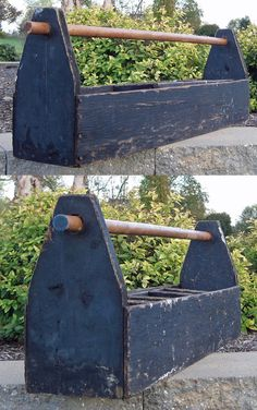So many ways to Upcycle this almost 3-feet long vintage carpenter's tool box!
