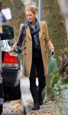 Blake in a nude trench