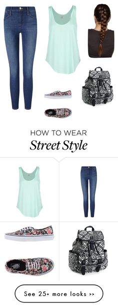"""back to school outfit"" by tessa-smithyyyy on Polyvore featuring Frame Denim, Rip Curl, Vans and Aéropostale"