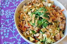 Asian Chicken Salad With Chili Lime And Peanut Dressings Recipe Asian Chicken Salads Chicken Salad Recipes Asian Chicken