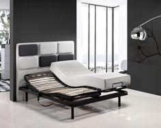 Colchón Lesbos junto a cama articulada modelo Kevlar y cabecero Braque.