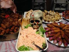 Halloween party food at Pendine Sands