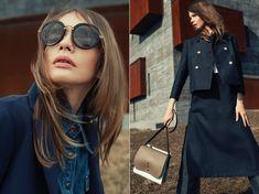 Oversized sunglasses and denim styles evoke a timeless look.