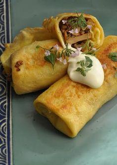 Piniowe orzeszki: Krokiety z kaszą gryczaną i kurkami