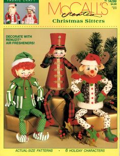 Christmas Sitters Renuzit Air Freshener Plastic Container Elf Reindeer Soldier Angel Mrs Santa Claus Recycle Craft Pattern Leaflet 14208 by howtobooksandmore on Etsy https://www.etsy.com/listing/106362662/christmas-sitters-renuzit-air-freshener