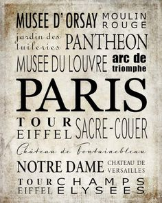 PARIS printables