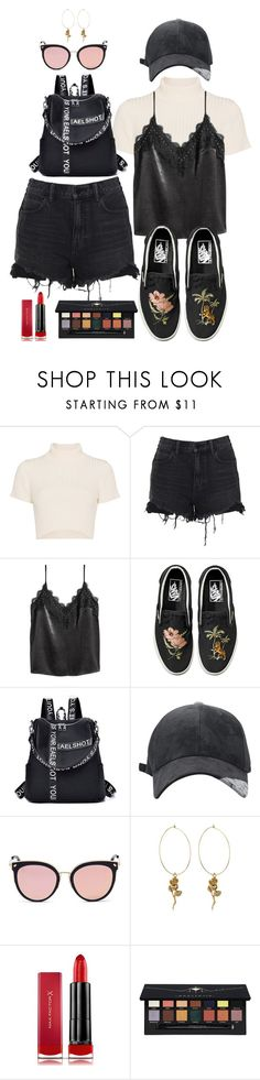 """get the look 30"" by ichaermayani on Polyvore featuring Staud, Alexander Wang, H&M, Vans, Stephane + Christian, Max Factor, Anastasia Beverly Hills and polyvorefashion"