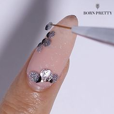 Chrome Nails Designs, Gel Nail Art Designs, Nail Art Designs Videos, Nail Design Video, Simple Nail Art Designs, Nail Art Videos, Rose Nail Art, Flower Nail Art, Gel Nail Tutorial