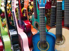 Toy Guitars, Olvera Street Market, El Pueblo de Los Angeles, Los Angeles, California, USA Photographic Print by Walter Bibikow at Art.com
