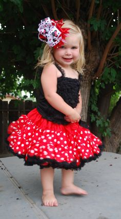 Minnie Mouse Petti Dress- Ages 1 to 8. $28.99, via Etsy.