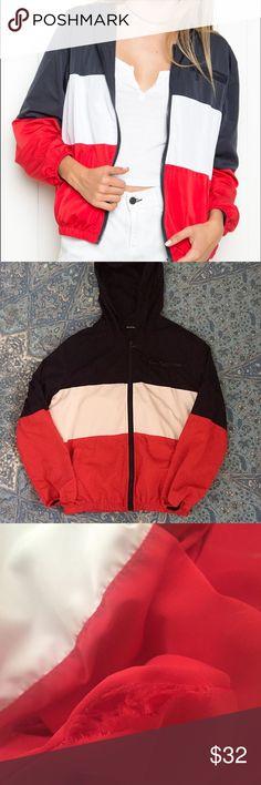Brandy Melville Windbreaker Brandy Melville Krissy Windbreaker / One size fits S/M best / small flaw on the inside of the pocket Brandy Melville Jackets & Coats