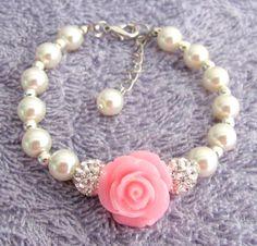 Pulsera de niña de las flores regalo de la muchacha de flor | Etsy