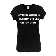 1DTourLife My Ideal Weight Is Harry Styles on Top of Me Shirt ($20) ❤ liked on Polyvore featuring tops, grey, women's clothing, gray shirt, grey top, grey shirt, gray top and shirts & tops