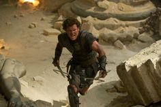 Sam Worthington in action as a Perseus at the 'Wrat of the Titans' Movie.