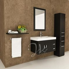 Lyra Single Wall Mounted Bath Vanity Clean Lineinimalist Eal Of A Modern Floating With Stylish Integrated Sink Top