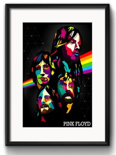 Quadro Pink Floyd Pop Art com Paspatur