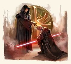 "Rule of Two - ""Two there should be; no more, no less. One to embody power, the other to crave it."" - Darth Bane"