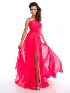 One Shoulder Neon Pink Open Back Prom Dress - Prom Dresses - Mac Duggal  This is the dress I would wear to my senior prom because as much as I like  fun ...