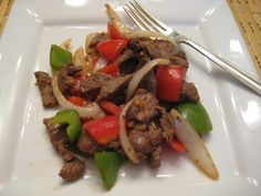 Chinese Pepper Steak - This recipe is Induction friendly ONLY if you leave out the sherry. I'll tell you up front I'm extremely salt sensitive and I use very little soy sauce in this dish. You may want to double the so...