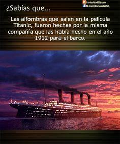 Las alfombras de la película Titanic eran de la misma compañía de las del barco ~ ¿Sabías que?