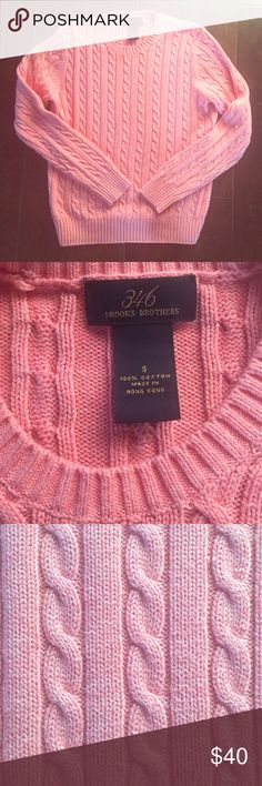 346 Brooks Brothers Pink Sweater This is in perfect condition, never worn. 100% cotton. Brooks Brothers Sweaters Crew & Scoop Necks