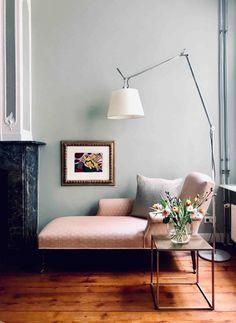 Green Painted Walls, Farrow Ball, B & B, Location, Entryway Bench, Corner, Furniture, Instagram, Chaise Longue