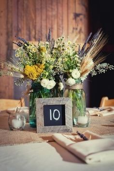 Rustic Wedding Centerpieces Mason Jars   ... Wildflower Wedding Centerpieces   Budget Brides Guide : A Wedding Blog