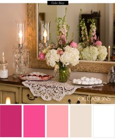 Color ideas for a bridal shower