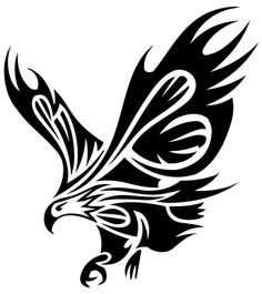 Tribal Eagle Tattoos Designs