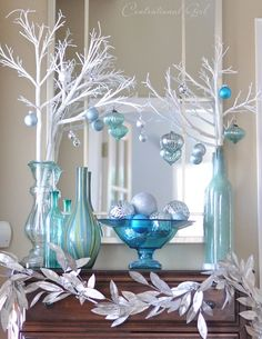Top 40 Blue And White/ Blue And Silver Christmas Decoration Ideas Christmas…