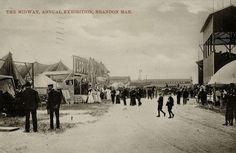 Midway, Annual Exhibition, Brandon, Manitoba in 1907
