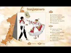 Trajes Típicos de Colombia, Sanjuanero - YouTube Beautiful Flowers, Playing Cards, Dance, Peru, Videos, Embroidered Flowers, Ethnic Dress, Ballroom Dress, Cotton Pants