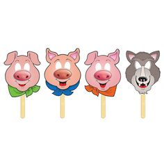 Three little pigs masks
