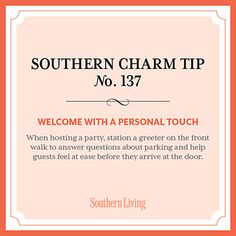 #SouthernCharm Tip #137: Welcome with a Personal Touch