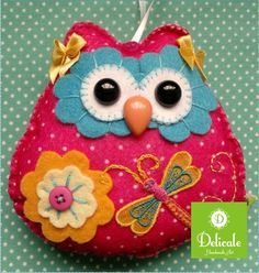 pretty owl design to paint on a stone