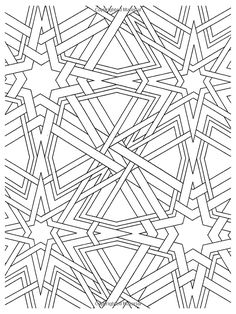 coloring pages geometric staind glass - photo#9