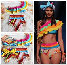 $18.95 (Buy here: https://alitems.com/g/1e8d114494ebda23ff8b16525dc3e8/?i=5&ulp=https%3A%2F%2Fwww.aliexpress.com%2Fitem%2F2016-New-Sexy-Lady-s-Rainbow-One-shoulder-Ruffle-Top-Bandeau-BIKINI-Bowknot-Bottom-Swimwear-S%2F32677097771.html ) Push Up Bikini 2016 Bathing Suit Women Swimming For Set Top Rainbow Ruffle Bandeau Bowknot Bottom M L Badeanzug Costume Da for just $18.95