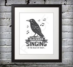 Beatles inspired  Blackbird Singing  8x10 by BentonParkPrints, $10.00
