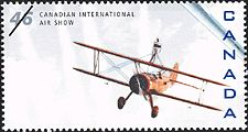 Canadian Postal Archives Database Postal Administration: Canada Title: Stearman A-75, H101 Salto Denomination: 46¢ Date of Issue: 4 September 1999