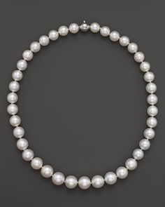 """Tara Pearls White South Sea Cultured Pearl Strand Necklace, 17"""" 