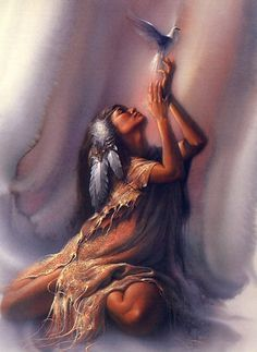 From this Native american women fantasy art