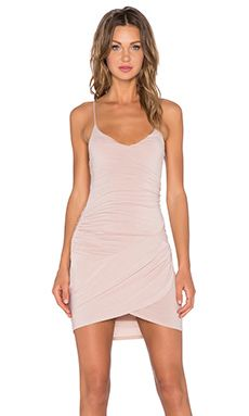 krisa Gather Cami Dress in Nude | REVOLVE