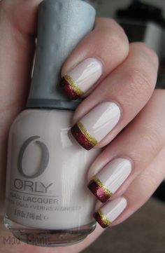 Garnet n Gold nails ~ Sry, but this would have to be garnet and black!!