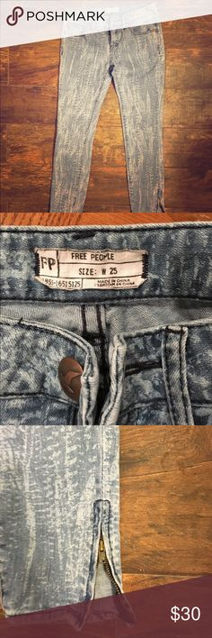 Selling this Free people feather crop skinny jeans on Poshmark! My username is: jbauer84. #shopmycloset #poshmark #fashion #shopping #style #forsale #Free People #Denim